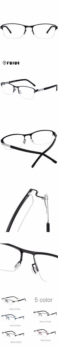 FUJUE Semi-rimless Frame Glasses Optical Computer Glasses Frame Men Myopia Spectacle Eyeglasses Optical Eyewear Frames FJ3034