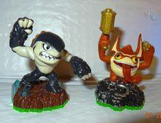 Skylanders Terrafin Shark & Trigger Happy Loose Action Figures Lot 2 Pcs NT #Activision