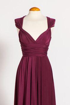 Floor Length Infininty Dress / Red Wine Infinity Dress by mimetik, $69.00 (Sara wedding)