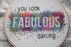 Negative stitching - french knots - embroidery - &stitches