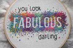 Negative stitching - french knots - embroidery - &stitches