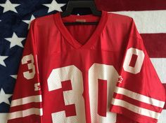 e2ae7847 Vintage 90s Starter Jersey Bacis Starter Jersey Collection Red White Colour  Starter Jersey Authentic Starter Apparel Size 48 Number 30 Large