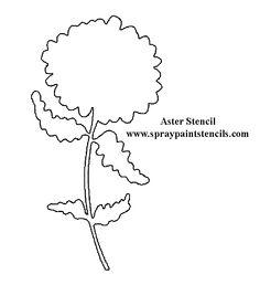 asterflower-stencil.gif (612×720)  website how to create own stencil