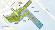 Port Covington East Waterfront Park — Landworks Studio, Inc. Different Seasons, Different Plants, Landscape Plans, Landscape Design, Landscaping Tips, Garden Landscaping, Rock Bed, Linear Park, Master Plan