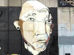 street art, next to 'one penny black' cafe, Hunter Street, Newcastle, NSW, Australia
