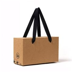 3 x Kraft box bags / Paper box bag / Small or Medium Size / Brown boxes / Box with handle / Handle box bag / Paper bags