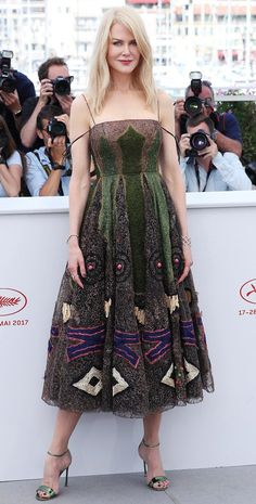 """Nicole Kidman in Christian Dior attends the """"The Killing Of A Sacred Deer"""" photocall during the 70th annual Cannes Film Festival. #bestdressed"""