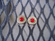 Bullet Earrings Red by Sarahsjewelrydesigns on Etsy, $20.00