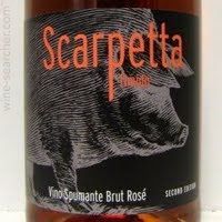 Scarpetta Timido Spumante Brut Rose, Italy label