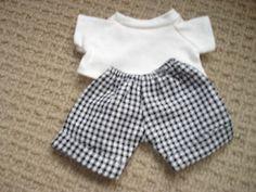 Puppenkleid-Hose-und-Oberteil-Baerenkleidung-Puppenkleidung-klein