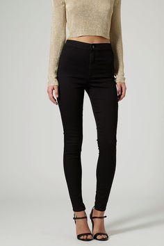 Black High Waist Skinny Jeans #genuine-people