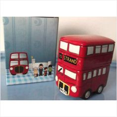 Routemaster Bus Double Deck Novelty Ceramic Trinket Box Fun Gift -Gift boxed on eBid United Kingdom