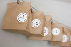 This is the perfect, last-minute DIY advent calendar. Just grab some brown bags, fill with fun surprises and then add personalized Avery Round Labels. It's simple to design and print your own with the free holiday templates from Avery Design & Print Online.