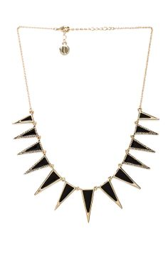 House of Harlow Enameled Echelon Collar Necklace in Gunmetal from REVOLVEclothing