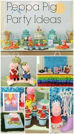 Peppa pig birthday party ideas.