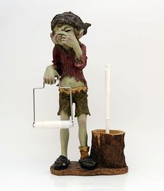 A goblin's name: Pixies toilet paper and brush holder  Size: 51 cm