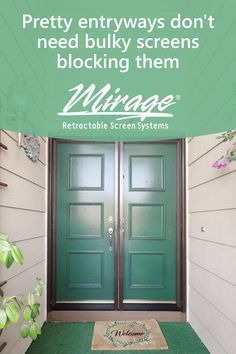 Pretty entryways don't need bulky screens blocking them. Mirage Retractable Screens are modern, tasteful and stay out of the way when not needed. Retractable Screen Door, Entryway, Pretty, Outdoor Decor, Modern, Entrance, Trendy Tree, Door Entry, Mudroom