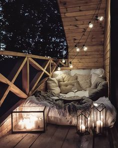 Dream Rooms, Dream Bedroom, Bedroom Romantic, Night Bedroom, Bedroom Corner, Small Balcony Decor, Outdoor Balcony, Balcony Ideas, Patio Ideas