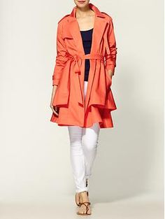 Tibi, draped trench coat