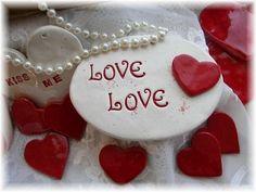 Valentine Love  Love   Ceramic Plaque by Angelheartdesigns on Etsy, $12.00