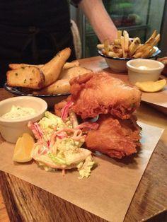 The gabardine - Bay Street Toronto, Restaurants, Chips, Wanderlust, Fish, Meat, Chicken, Street, Breakfast
