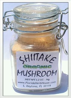 Shiitake Mushroom Powder 1.2 oz. (34g) - Great Eco Friendly Gift Ideas! - Eco-Spices! - http://spicegrinder.biz/shiitake-mushroom-powder-1-2-oz-34g-great-eco-friendly-gift-ideas-eco-spices/