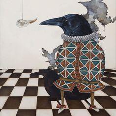 'Der Narr und der Dieb' Malerei von Jill Tegan Doherty