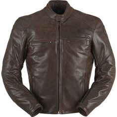79b5475b26e Brown-Black-Racing-Motorbike-Leather-Jacket-Motorcycle ALL size