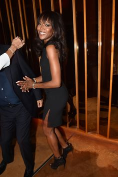 Naomi Campbell attends @michaelkors fragrance party. [Photo: Steve Eichner]