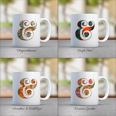 pretty coffee mug coffee cup set ampersand mug letter mug custom drinkware