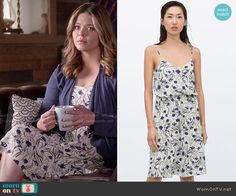 Ali's floral dress on Pretty Little Liars.  Outfit Details: http://wornontv.net/50910/ #PLL