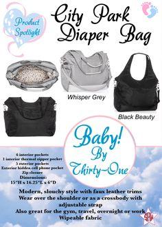 Baby by Thirty-One product spotlight.  City Park diaper bag.  Thirty-One spring/summer 2018. www.mythirtyone.ca/sabrinawhite