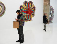 Trippy Pour Paintings by Holton Rower @ The Hole NYC ~ SOLIFESTYLE