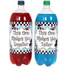Alice In Wonderland 2-Liter Bottle Labels (2)