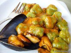 Gnocchi di zucchine con le cozze - PRIMI DI PESCE