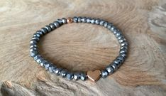 Armbänder - Perlen Armband silber mit Herz roségold - ein Designerstück von saniLou bei DaWanda