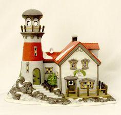 "Department 56 - New England Village Series - ""PIGEONHEAD LIGHTHOUSE"""