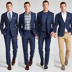 Choose to Work Style, head-turning looks. Blue Blazer Outfit Men, Navy Blazer Men, Blazer Outfits Men, Business Casual Men, Men Casual, Classy Suits, Mens Sport Coat, Sport Coats, Dresscode
