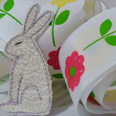 Stitched Hare Brooch | giftwrappedandgorgeous.co.uk