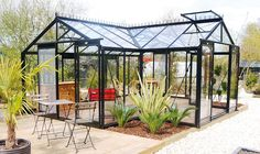 Enemmän kuin kasvihuone! Huvimaja ACD Sophie 22,6m², musta alumiinirunko, turvalasit #netrauta #kasvihuone #puutarha