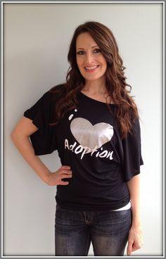 Flowy I Heart Adoption Shirt
