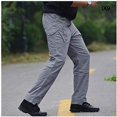 Lutratocro Mens Workout Baggy Cargo Multi Pocket Sport Open Bottom Pants