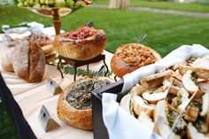 Appetizer+Displays | Appetizer station - Museum Courtyard; photo by Ray Anthony Photo