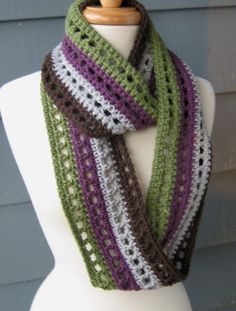 Striped Infinity Scarf (66 inches).. $25