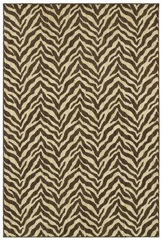 """HGTV HOME Flooring by Shaw Area Rug in style """"Zybra"""" color Chocolate Brown."""