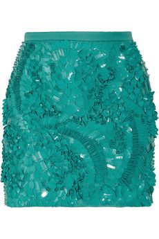 Embellished mini skirts are fun and sexy pieces to add to your wardrobe Deep Winter, Antonio Berardi, Tiffany Blue, World Of Fashion, City Fashion, 3d Fashion, Maxis, Adulting, Coco Chanel