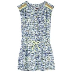 Printed viscose Fine cotton lining Dress: Light and flowing Crew neck Sleeveless Button strap on the chest Elastic waistband Fancy print Fancy braids - 79,00 €