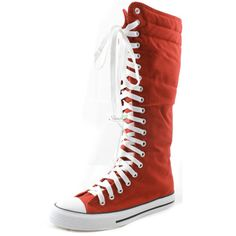 Womens-Canvas-Sneaker-Punk-Flat-Tall-Mid-Calf-Lace-Up-Knee-High-Boot-Skater-Shoe