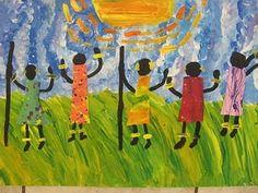 masai artwork by children.