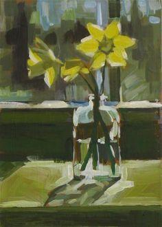 """My First Daffodils"" - Original Fine Art for Sale - © Annie Salness"